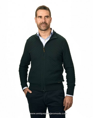 Pertegaz green knitted jacket