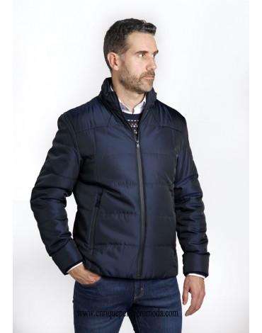 Pertegaz micro-drawing navy jacket