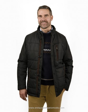Pertegaz men's black parka