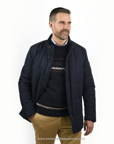 Pertegaz quilted navy jacket