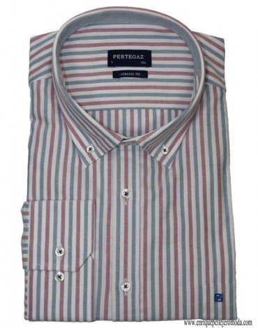Pertegaz red stripe sport shirt