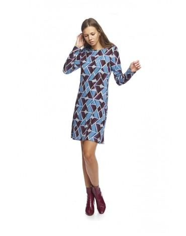 MdM vestido estampado geométrico