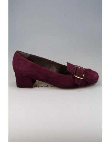 Daniela burgundy suede shoes