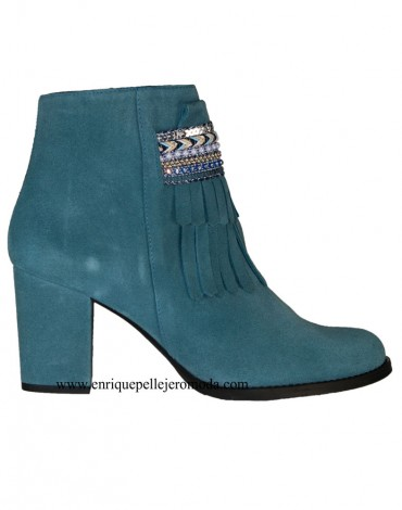 Turquoise ankle boots Daniela Shoes