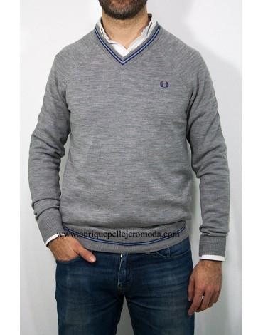 Fred Perry jersey gris hombre