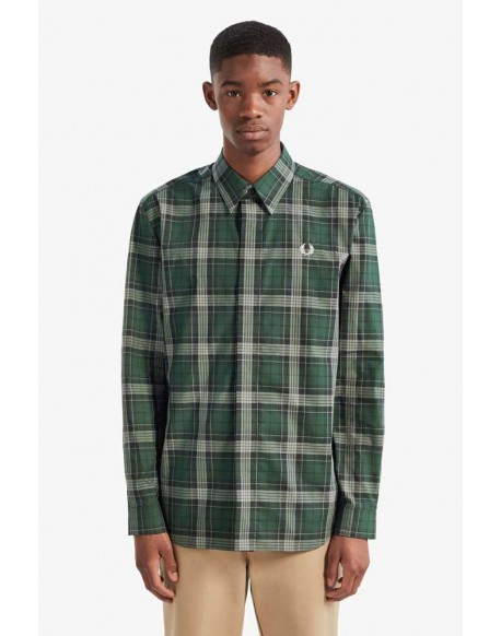 Fred Perry camisa cuadros verdes