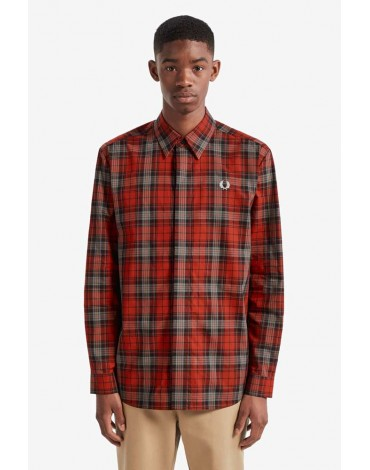 Fred Perry camisa cuadros rojos