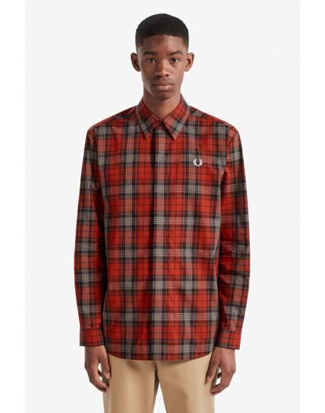 Fred Perry camisa cuadros rojos