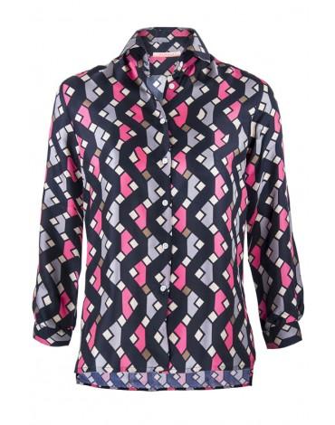 Vilagallo camisa estampada seda