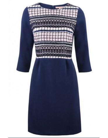 Vilagallo vestido azul marino