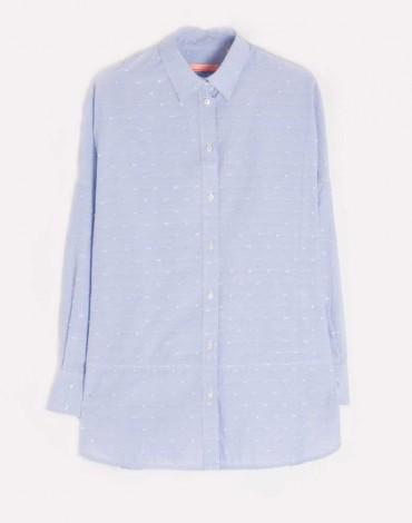 Vilagallo camisa celeste mil rayas motivo