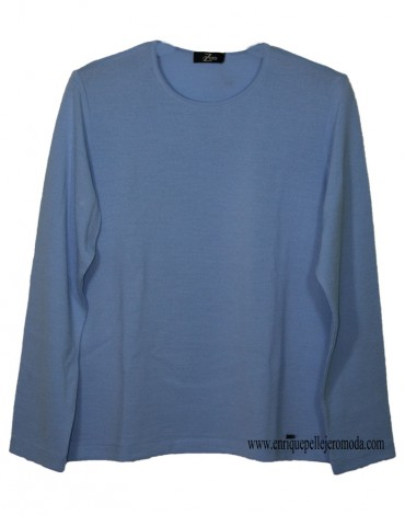 Zero light blue sweater woman