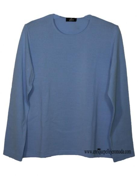 Zero light blue sweater woman