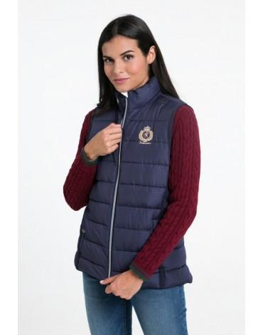 Valecuatro women's navy vest