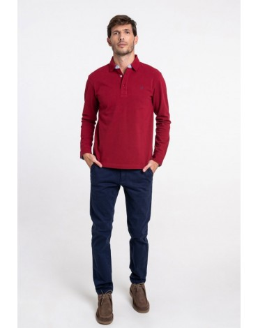 Valecuatro basic burgundy polo shirt