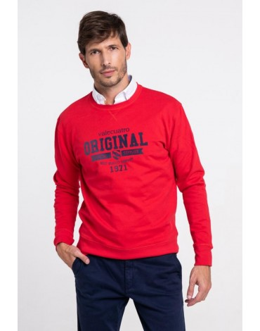 Original men's red Valecuatro sweatshirt