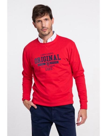 Original men's red Valecuatro sweatshirt
