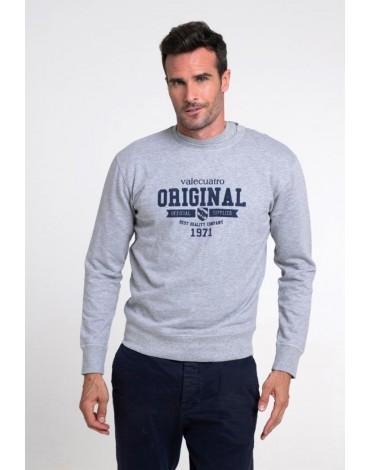 Valecuatro gray sweatshirt logo man
