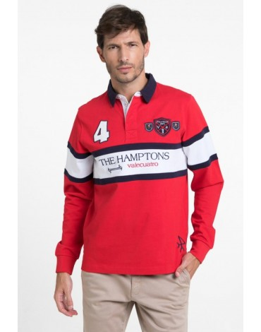 Valecuatro red polo shirt The Hamptons