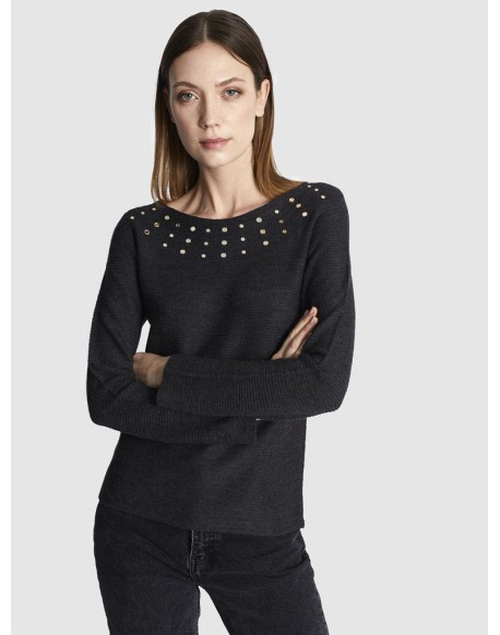 Escorpion jersey gris mujer