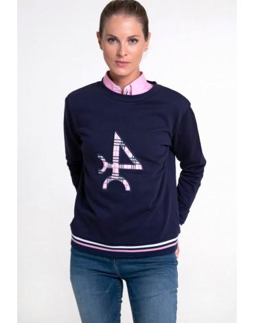 Valecuatro navy blue logo sweatshirt