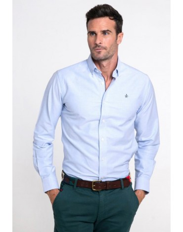 Valecuatro sky blue oxford shirt