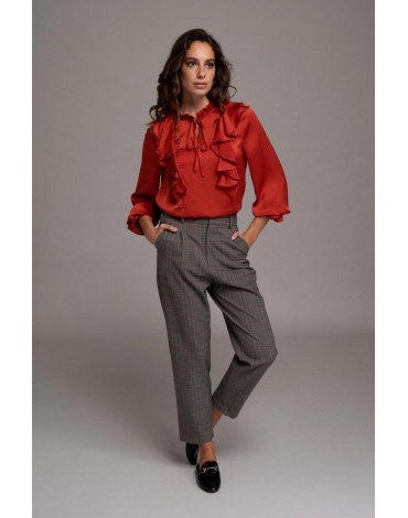 SMF blusa color teja mujer