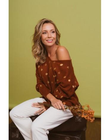 SMF jersey marrón mujer