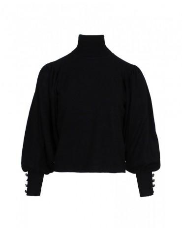 SMF jersey negro cuello alto