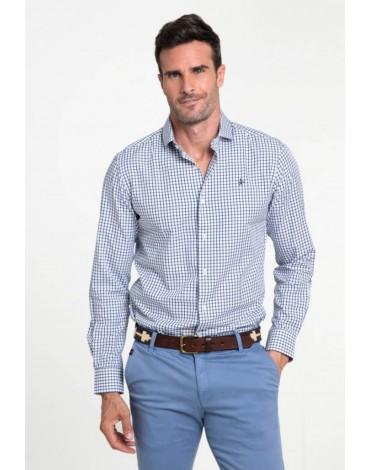 Valecuatro camisa cuadros azul marino
