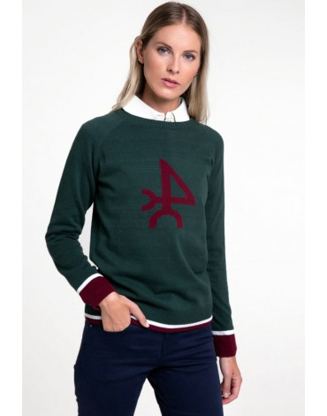 Valecuatro bottle green sweater woman