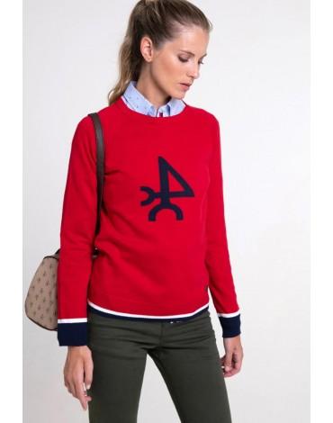 Valecuatro jersey rojo logo mujer