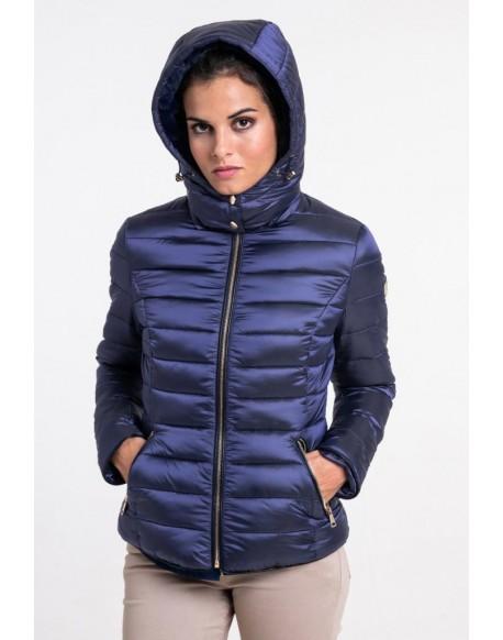 Valecuatro women's blue padded coat
