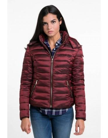 Valecuatro maroon padded coat