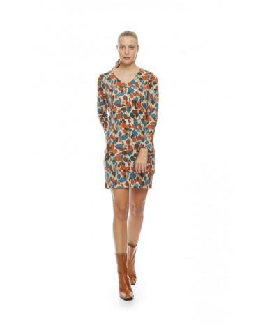 MdM leaf print dress