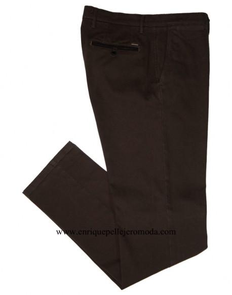 Pertegaz brown drawing chino trousers