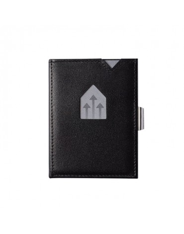 Exentri black leather wallet