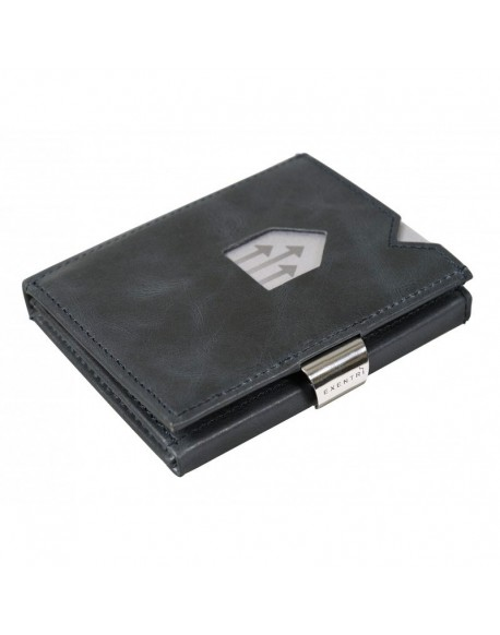Exentri blue leather wallet
