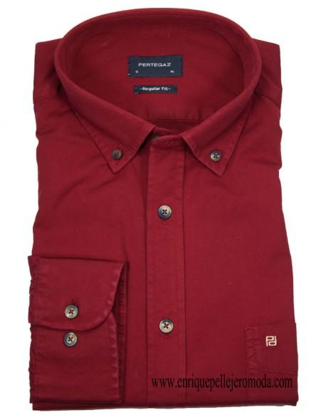Pertegaz plain maroon shirt