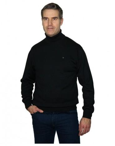 Pertegaz jersey negro cuello vuelto