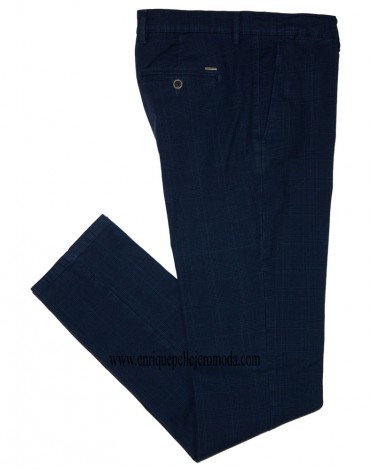 Pertegaz pantalon marino cuadros