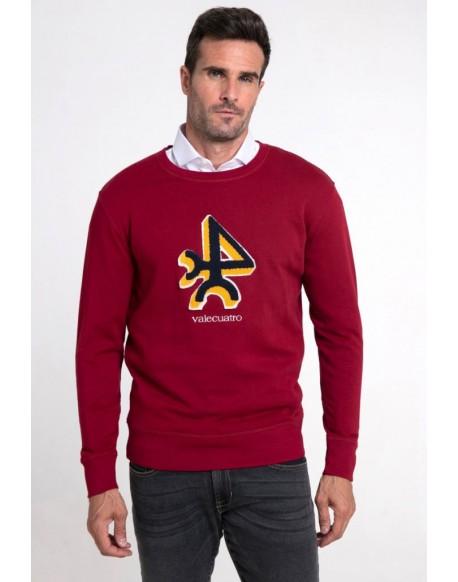 Valecuatro garnet logo sweatshirt