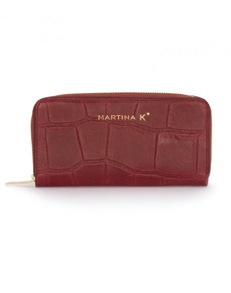 Burgundy leather wallet Martina k