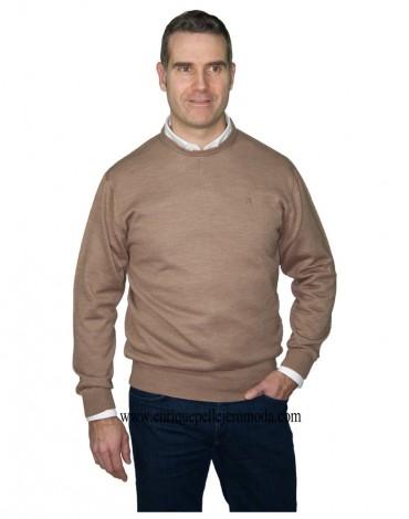Pertegaz camel round neck sweater