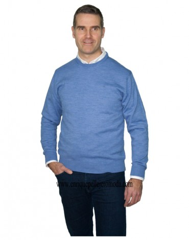 Pertegaz light blue round neck sweater