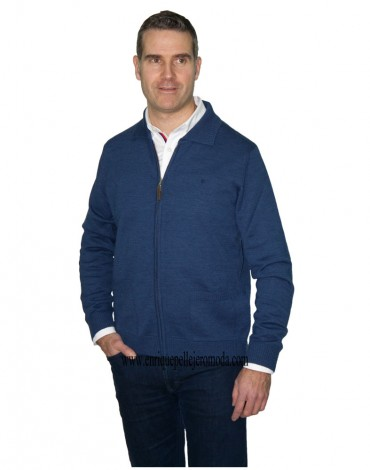 Pertegaz blue knitted jacket