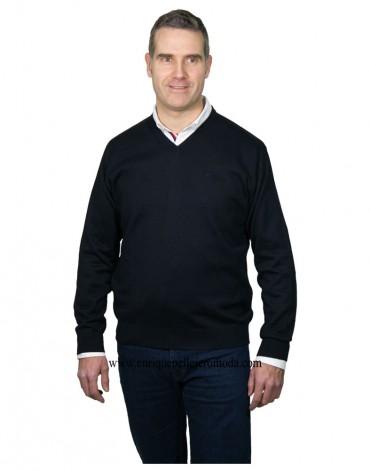 Pertegaz navy v-neck sweater