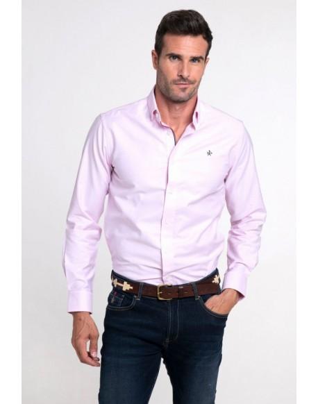Valecuatro pink Oxford shirt