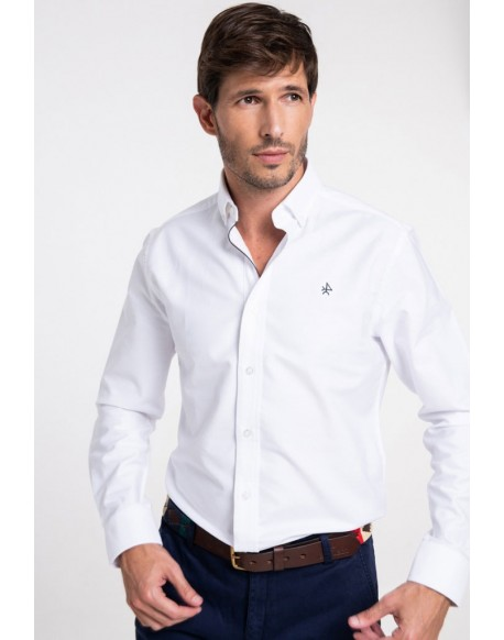 Valecuatro white Oxford shirt