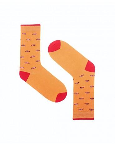 Orange car socks